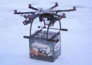 beer drone delivery