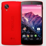 Google Nexus 5 Android smartphone Now in Red