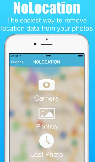 Easily remove EXIF data from your photos with noLocation