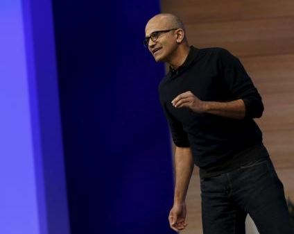 Image: Microsoft CEO Satya Nadella delivers his keynote address at Microsoft Build in San Francisco, California April 29, 2015. REUTERS/ROBERT GALBRAITH