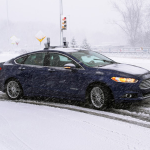 How Ford Fusion Hybrid Autonomous Research Vehicle Can Navigate in Winter