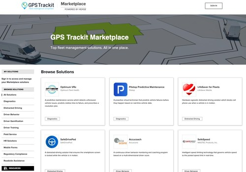 The GPS Trackit Marketplace provides an easy experience to browse, buy and access a wide range of value-added products and services for fleets.