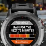 AccuWeather MinuteCast Available in Connect IQ, Providing Hyper-Local Weather on New Garmin fēnix 3 Multisport Watches